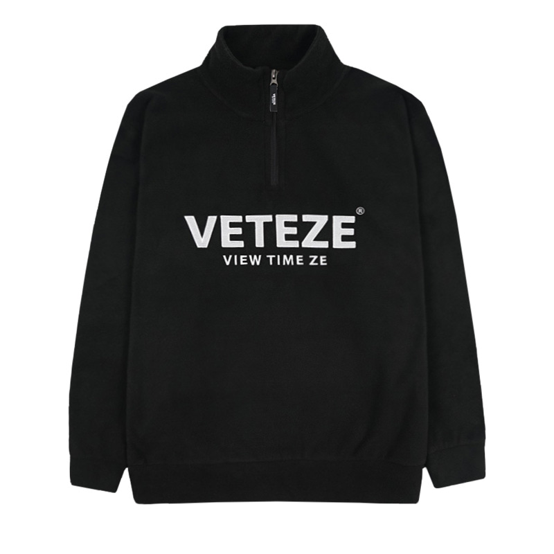 Basic Fleece Pullover (black)