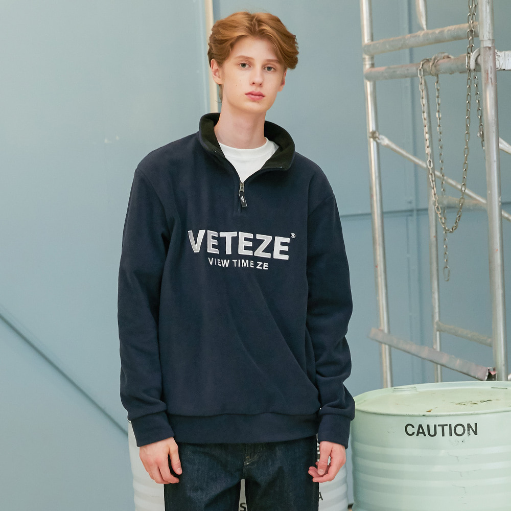 Basic Fleece Pullover (navy)