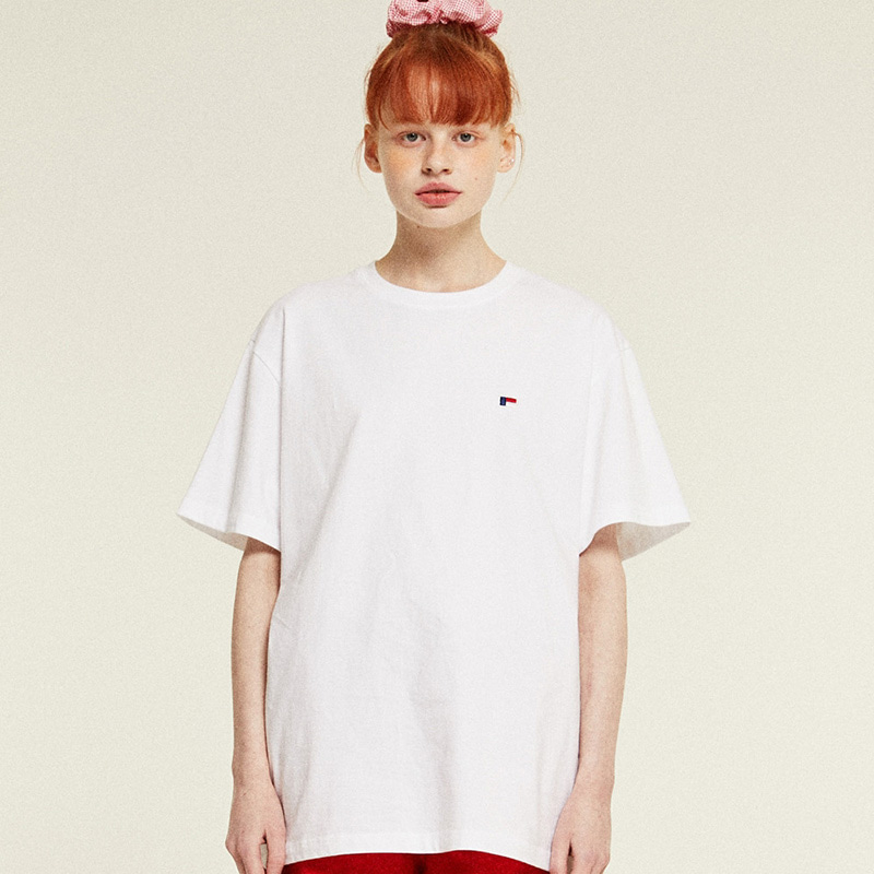 Mini Logo Half T-Shirts (white)