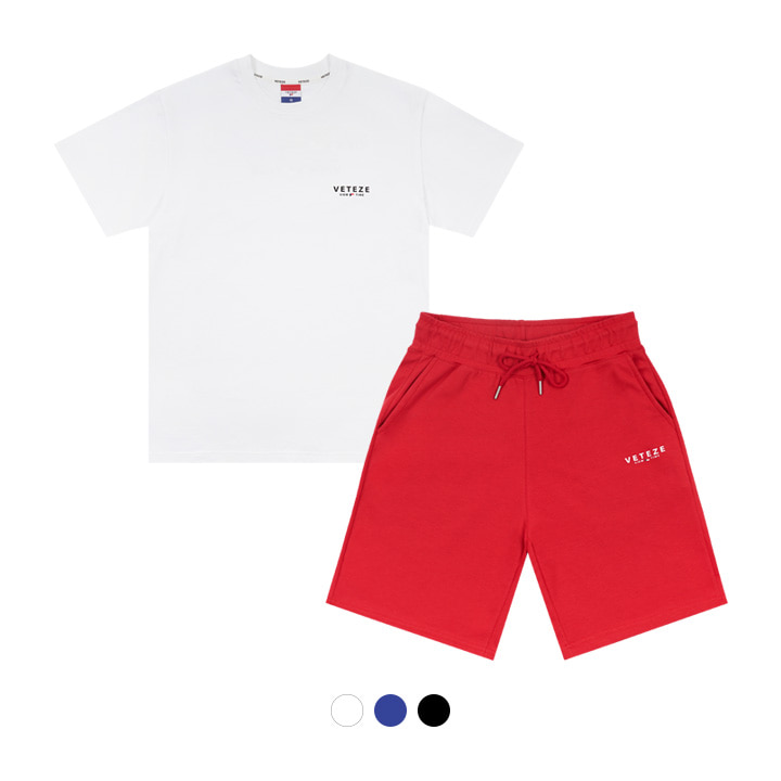 [HOT SUMMER] [SET]Signature Logo Half T-Shirts + Signature Logo Shorts