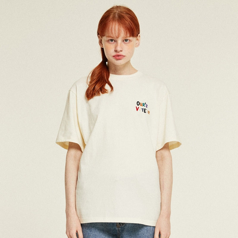 Our's Half T-Shirts (cream)