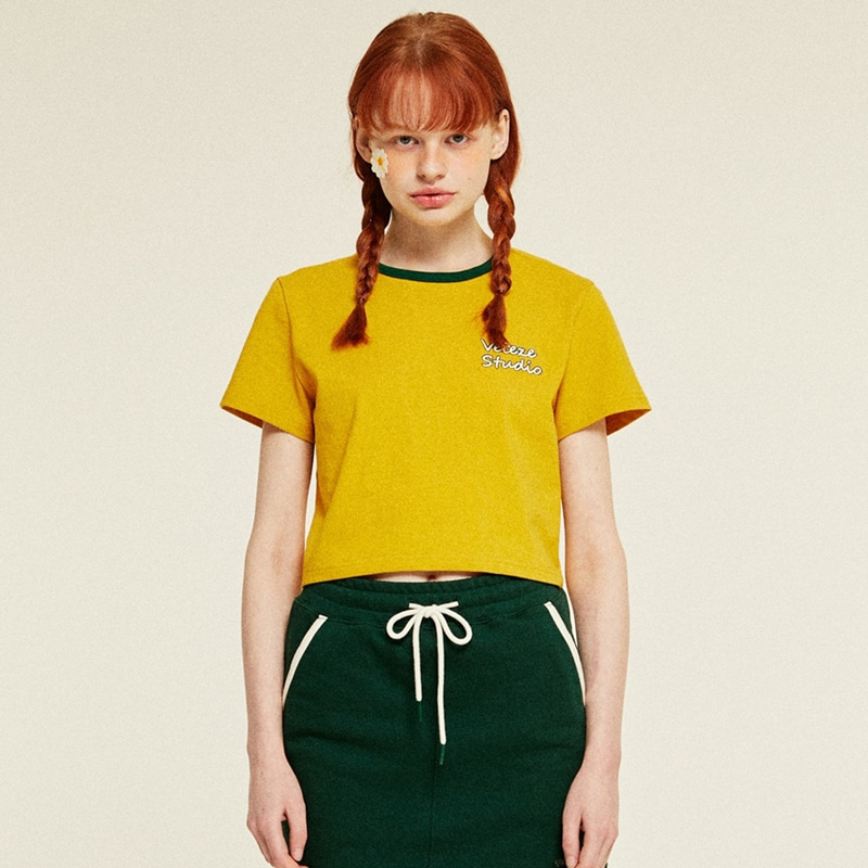 Studio Crop T-Shirts (mustard)