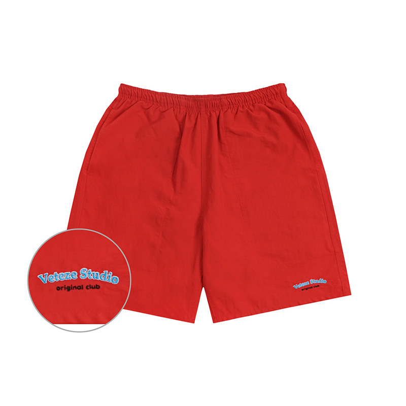[6월5일 출고예정]Studio Half pants (red)