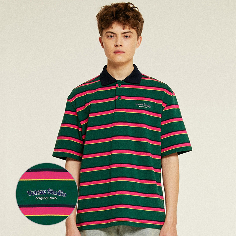 Studio PK Stripe T-Shirts (green)