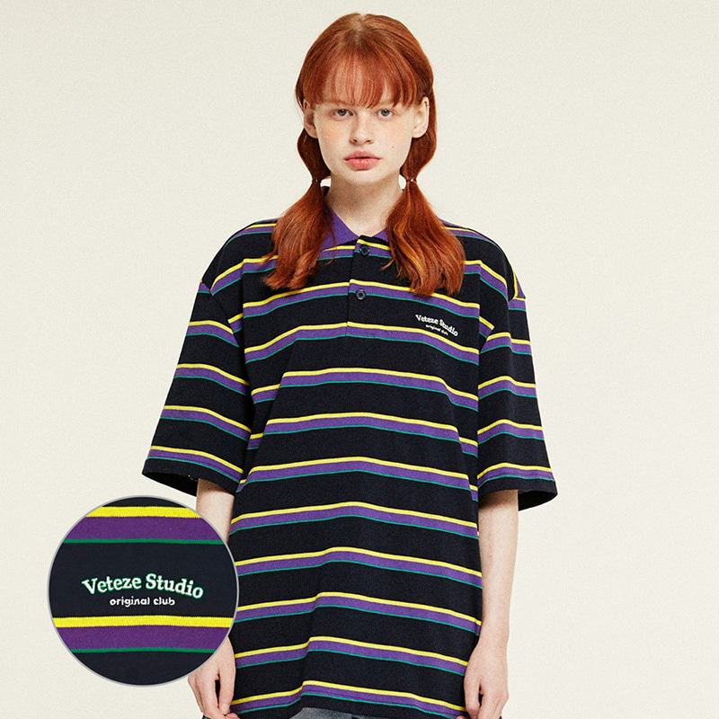 Studio PK Stripe T-Shirts (navy)