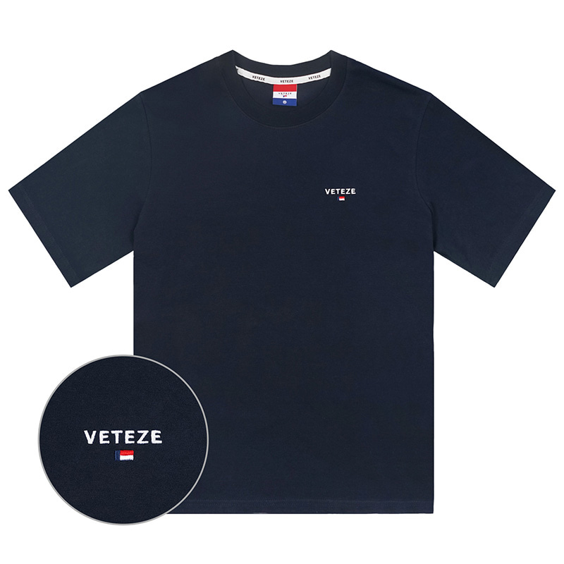 Basic Logo Half T-Shirts (navy)