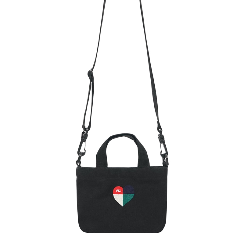 Heart Mini Bag (black)