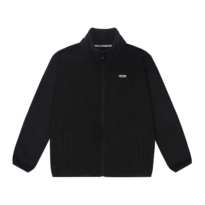 Basic Fleece Zipup (black)